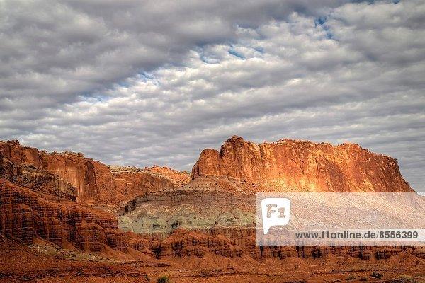 Felsbrocken  Himmel  bizarr  Anordnung  Riff  Utah