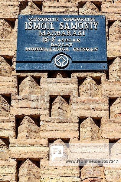 Buchara  Mausoleum  Usbekistan