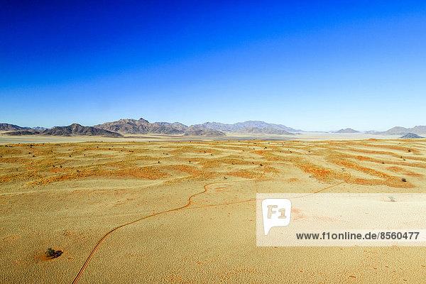 Luftaufnahme  roter Sand der Namib-Wüste  Wolwedans  Namib Rand Nature Reserve  Namibia