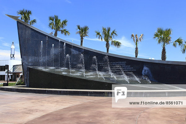 Eingang zum Kennedy Space Center  Orlando  Merrit Island  Florida  USA