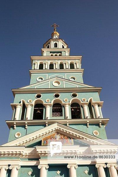 Glockenturm  Kathedrale  Heiligtum  russisch orthodox  russisch-orthodox  russisch  Usbekistan
