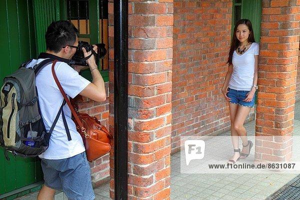 Frau  Mann  Pose  China  fotografieren  Hongkong