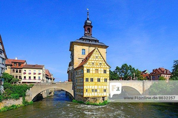 Halle  Stadt  Deutschland  UNESCO-Welterbe  Bamberg  Bayern  alt