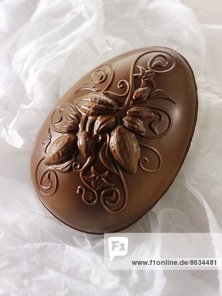 Dekoration Schokolade Osterei Milch