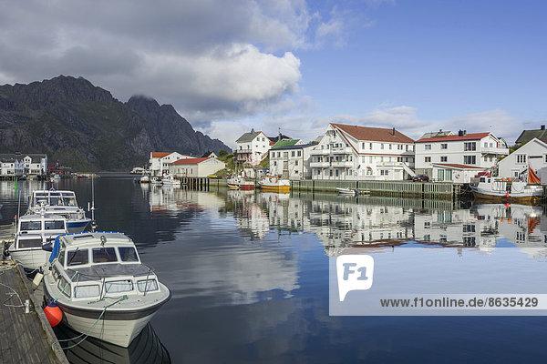 Hafen Boot Norwegen Lofoten Henningsvaer nordland