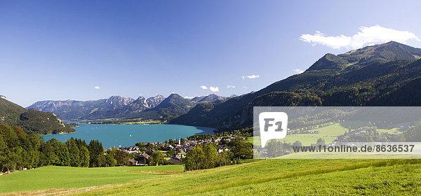 Panorama  Zwölferhorn  Wolfgangsee  St. Gilgen  Salzkammergut  Österreich