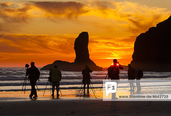 Vereinigte Staaten von Amerika  USA  Strand  Sonnenuntergang  Fotograf  Olympic Nationalpark  Sekunde