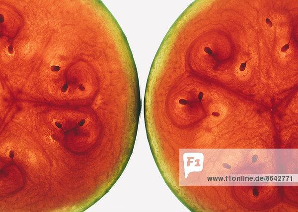 Bio-Wassermelonen-Scheiben