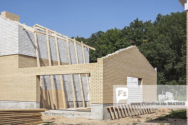 Konstruktion des Hauses