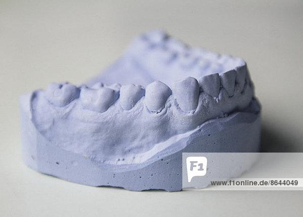 Nahaufnahme der Zahnform