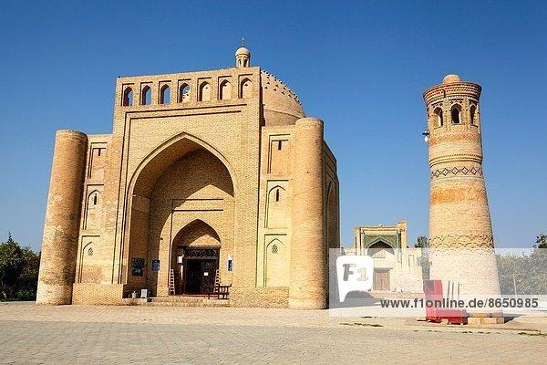 Werbung  Buchara  Mausoleum  Moschee  Usbekistan