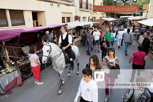 Straße  Heiligtum  Reiter  Provinz Alicante  Markt  Spanien