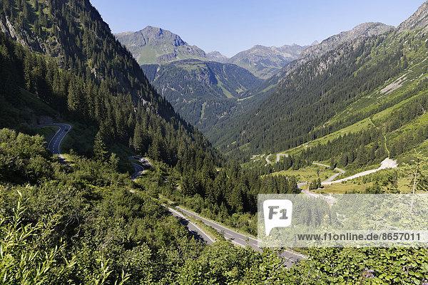 Silvretta-Hochalpenstraße  Montafon  Vorarlberg  Österreich