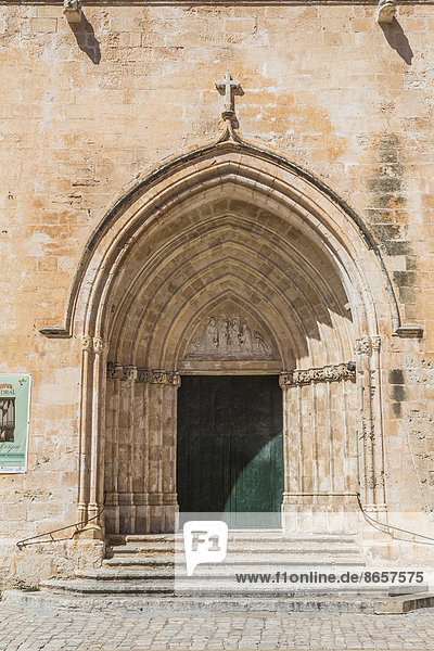 Seiteneingangsportal der Kathedrale von Menorca  Ciutadella  Menorca  Balearen  Spanien
