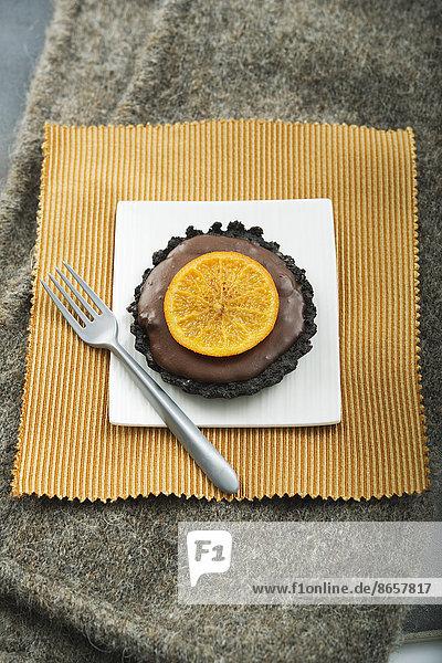 Schokolade  Mandarine  Tartelette