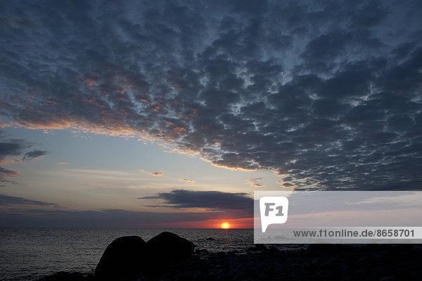 Sonnenuntergang Estland