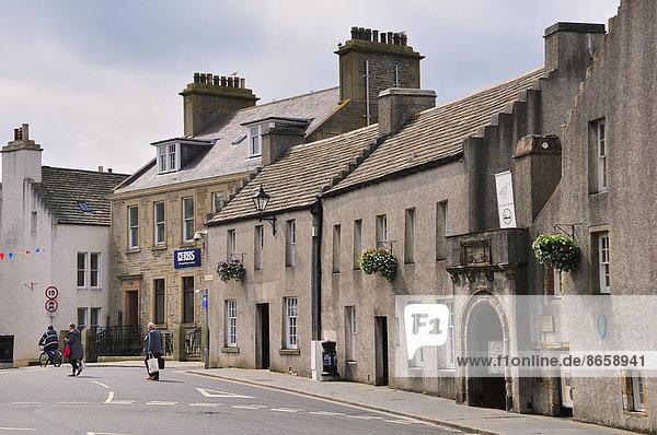 Großbritannien Gebäude Straße typisch Schottland