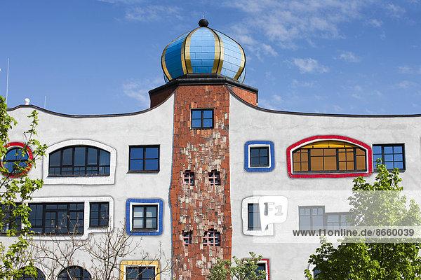 Luther-Melanchthon-Gymnasium  designed by Friedensreich Hundertwasser  Lutherstadt Wittenberg  Saxony-Anhalt  Germany