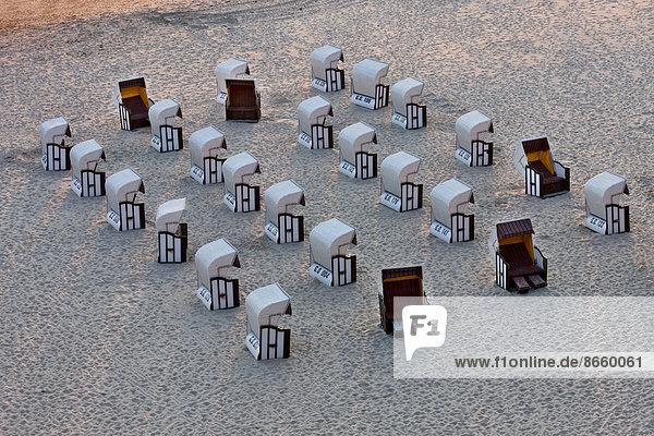 Beach chairs  Rügen Island  Mecklenburg-Western Pomerania  Germany