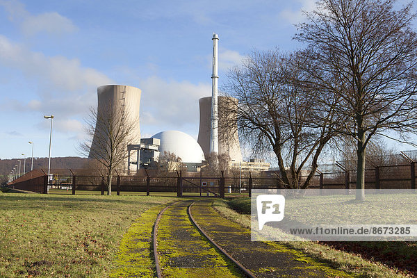Grohnde Nuclear Power Plant  Emmerthal  Hamelin-Pyrmont  Lower Saxony  Germany