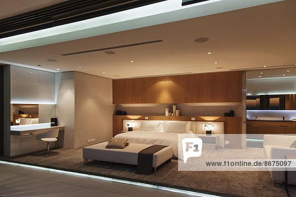 Schlafzimmer im modernen Haus