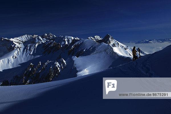 Verschneiter Karwendel  Innsbruck  Tirol  Österreich