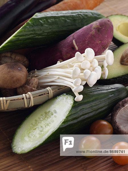 Frische  Korb  Gemüse  Zutat  roh