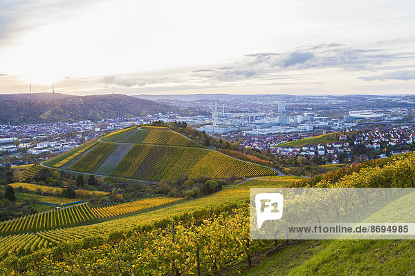 Deutschland  Baden-Württemberg  Stuttgart  Blick nach Untertuerkheim