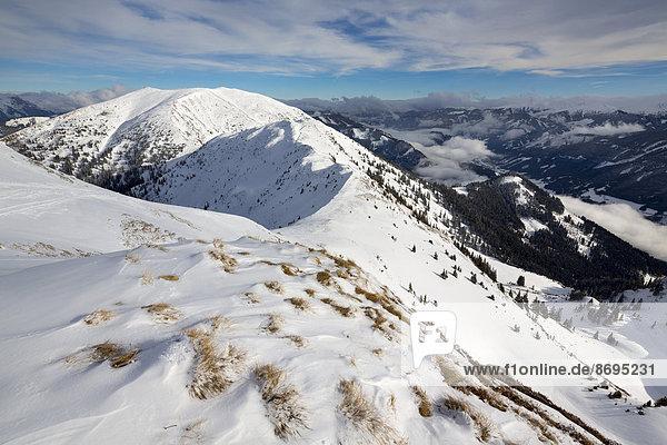 Leobner Gipfel vom Blaseneck gesehen  Eisenerzer Alpen  Steiermark  Österreich
