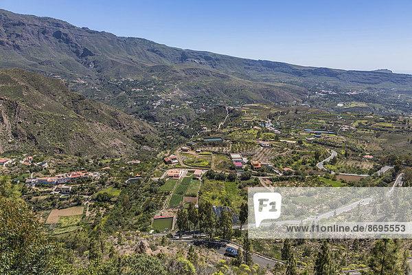 Aussicht vom Mirador des Hotels Las Tirajanas  San Bartolomé de Tirajana  Gran Canaria  Kanarische Inseln  Spanien
