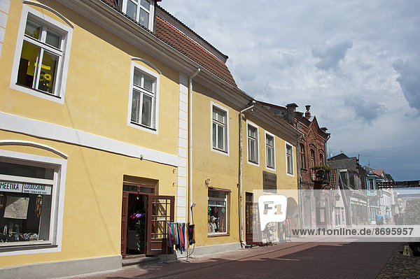 Fußgängerzone  Innenstadt  Rüütli  Pärnu  Estland  Baltikum