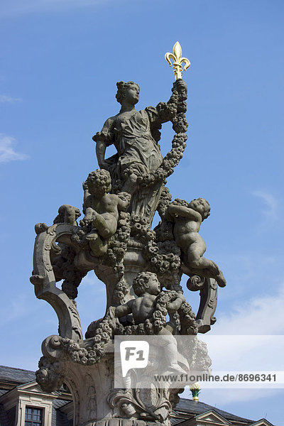 Sculpture in the Orangery  Schlossgarten or Castle Garden  Fulda  Hesse  Germany