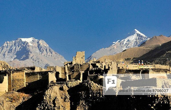medieval Kagbeni village in the Kingdom of Mustang in the Annapurna region of Nepal.