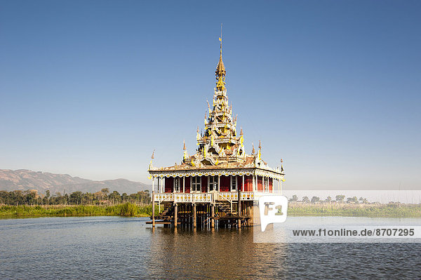 Temple in the water  Inle Lake  Shan State  Myanmar