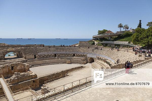 Römisches Amphitheater  Tarragona  Region Katalonien  Spanien