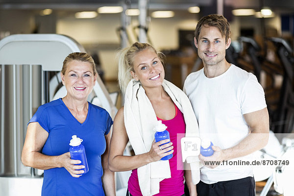 Portrait of fit friends at health club
