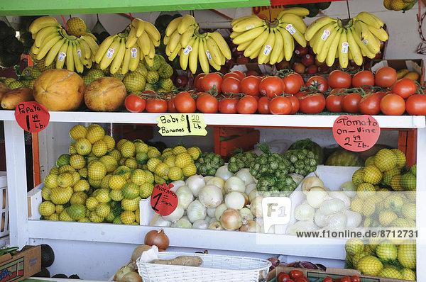 Vereinigte Staaten von Amerika  USA  Frische  Frucht  verkaufen  Kalifornien  Straßenrand