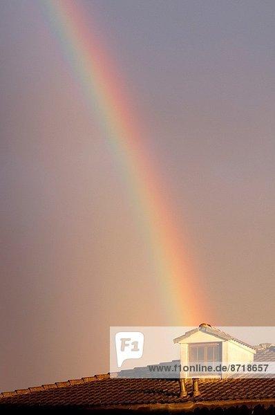 Italy  Lombardy  Rainbow on the Sky.