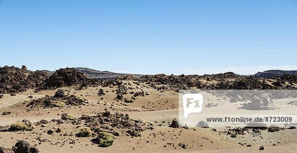 Vulkanlandschaft um den Teide  3718m  Hochebene Llano de Uruanca  Parque Nacional de las Cañadas del Teide  Teide-Nationalpark  UNESCO Weltnaturerbe  Teneriffa  Kanarische Inseln  Spanien