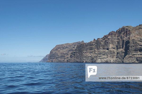 Klippen  Steilküste von Los Gigantes  Teneriffa  Kanarische Inseln  Spanien