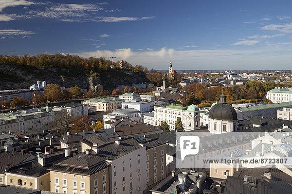 Berg über Ansicht Österreich Salzburg Land Salzburg