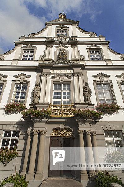 Rathaus mit der Barockfassade von 1721  Wangen  Allgäu  Bayern  Deutschland