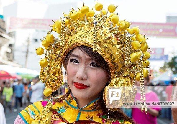 Thailand   Bangkok   China Town  girl.