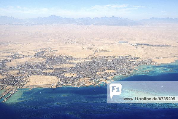 Luftaufnahme  Hurghada  Gouvernement Al-Bahr al-Ahmar  Ägypten