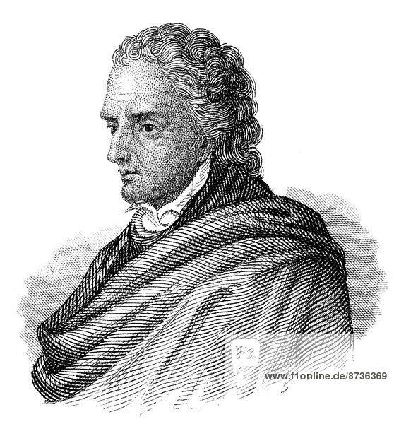 Portrait von Vittorio Alfieri  1749 - 1803  ein italienischer Dichter und Dramatiker