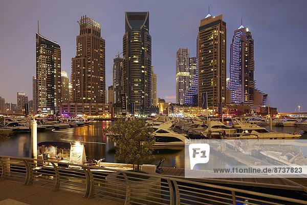 Dubai Marina  Dubai  Emirat Dubai  Vereinigte Arabische Emirate
