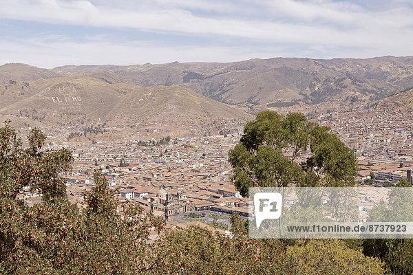Ansicht Cuzco Cusco Peru
