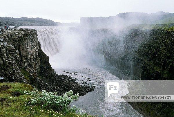ICELAND  NORTHERN PART  DETTIFOSS WATERFALL.