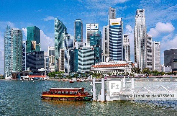 Skyline  Skylines  Jachthafen  Bucht  Singapur