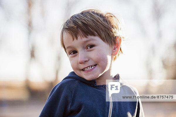 Portrait of smiling boy (4-5)